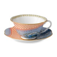 Wedgwood® Butterfly Bloom Blue Peony Cup & Saucer