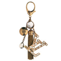 Louis Vuitton Caprice Key Ring / bag charm W Crystals and Tassle