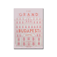 Grand Budapest Hotel Book Journal Notebook Hardcover