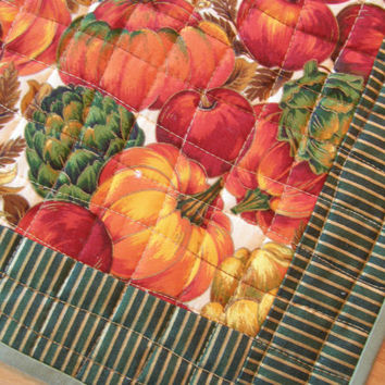 Quilted Placemats - Bountiful Harvest - Set of 4