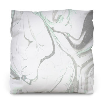 Pale Marble Throw Pillow