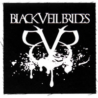 Black Veil Brides Splatter Cloth Patch Black