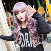 "sujii S Curl Wavy Full Wig Party Queen TLM028 Lilac Purple 68cm(26.8"")"