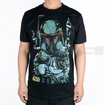 DCCKH6B T-shirt star wars boba fett sketch cosplay costume tshirt tee