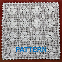 crochet pattern vintage square doilies digital doily napkin tablecloth filet crochet tablecloth pattern PDF Instant download egst Niatta