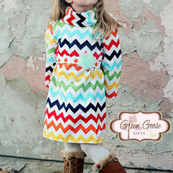 Cowl Slim Fit Dress - Boutique Toddler Dress - Ruffle Dress (Sizes 6 Months-4T)