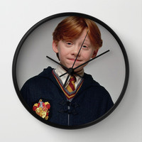 Ron Wall Clock by Max Jones | Society6