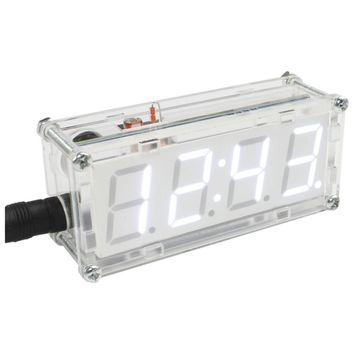 Digital Tube Thermometer Hourly Electronic Clock