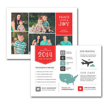 Christmas Card Digi, Digital Holiday Card, digital, printable, family photo card, personalized Christmas, 5x7 greeting card, year in review