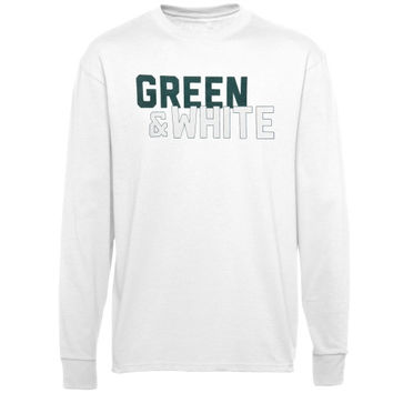 Michigan State Spartans Colors Long Sleeve T-Shirt – White