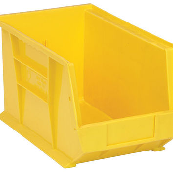 Quantum Storage Systems QUS242 Ultra Stack And Hang Bin Yellow - Pack of 12