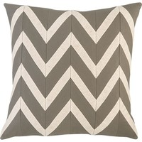 """Chevron Blush 18"""" Pillow in Decorative Pillows   Crate and Barrel"""