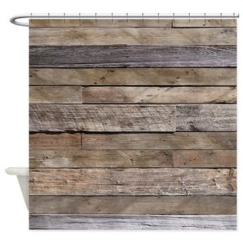 Rustic Weathered Barn Wood Shower Curtain> Coastal, Vintage and Urban Chic Shower Curtains> Rebecca Korpita Coastal Design