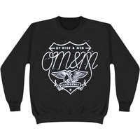 Of Mice & Men Men's  Eagle Sweatshirt Black Rockabilia