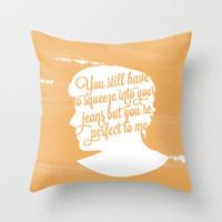Harry Styles Silhouette  Throw Pillow by Holly Ent | Society6