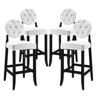 Button Bar Stool Set of 4