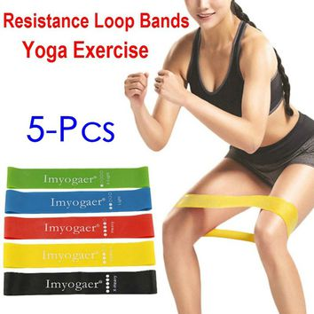 5 Pcs Fitness Equipment Resistance Bands Yoga Rubber Loop Sport Training Equipment