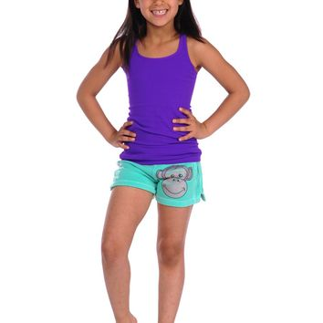 Butter Kids Monkey Gym Short - Teal
