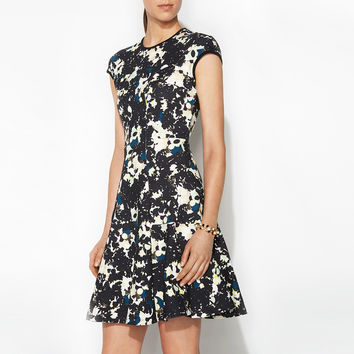 Erdem Floral Print Flared Jersey Diana Dress