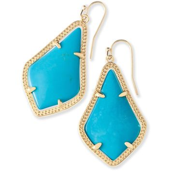 Kendra Scott: Alex Gold Drop Earrings In Turquoise