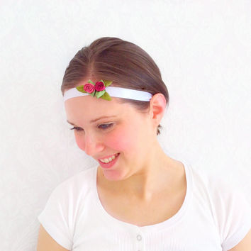 White Flower Crown Head Piece, Floral Headband Floral Bridal Wear, Shabby Chic, Teen Gift Ideas, Fashion Accessories, Hair Accessories
