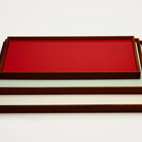 Architect Made — Turning Tray 1 By Finn Juhl Black Desert/Kimono Red — THE LINE