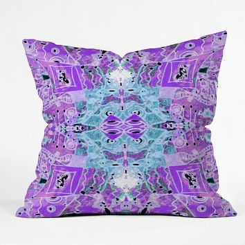 Ingrid Padilla Flora Violet Throw Pillow