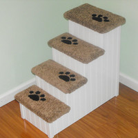 "24"" Tall Dog Stairs, 14"" Wide, 28"" Deep. These Dog Steps are Great for Small to Medium Size Dogs. Hand Made in the USA!"