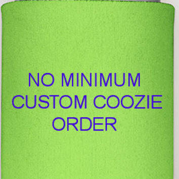 Custom coozie order, no minimum, bachelorette coozies, bachelor coozies, custom koozies, wedding koozies, party koozies, koozies picnic, fun