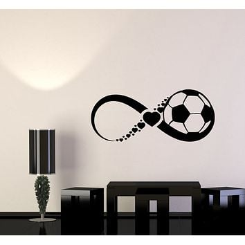 Vinyl Wall Decal Soccer Ball Game Team Sport Love Infinity Stickers Mural (g1336)