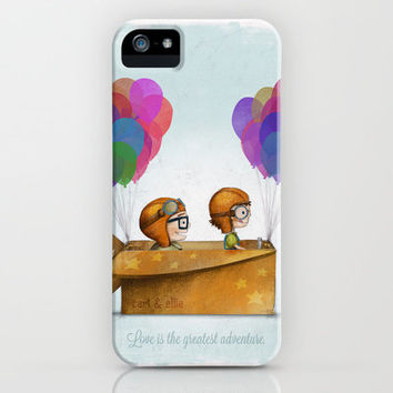 UP Pixar — Love is the greatest adventure  iPhone & iPod Case by Ciara Panacchia