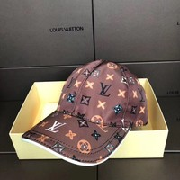 """LOUIS VUITTON"" Unisex  Casual Fashion Embroidery  classic Letter Baseball Cap Flat Cap Sun Hat"