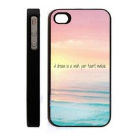 JIAXIUFEN Dream Hipster Quote Cute Ombre Design Plastic Case Cover For Apple iPhone 5 5S 5G Skin Protector Accessory