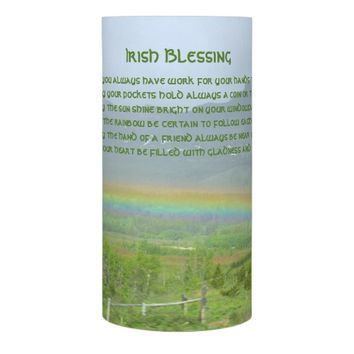 Irish Blessing Rainbow Photo Flameless Candle