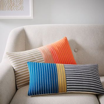 Steven Alan Colorblocked Ribbon Pillow Cover - Lagoon