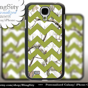 White Camo Chevron Galaxy S4 S5 case Olive Green Snow Winter Real Tree Camo Personalized Samsung Galaxy S3 Case Note 2 3 Cover