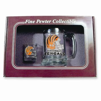 Cincinnati Bengals Shot Glass and Mug Set - Etching Personalized Gift Item