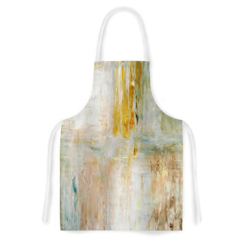 "CarolLynn Tice ""Coffee"" Brown Paint Artistic Apron"