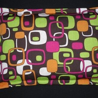 Heating Pad Microwavable Corn Bag- Retro Modern Squares