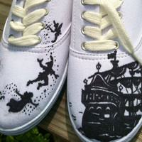 Custom hand painted acrylic vans style  womens by ncfcustomkicks