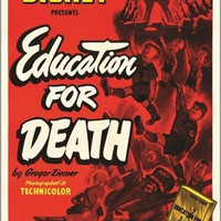 education for DEATH vintage movie poster 1943 WALT DISNEY RKO 24X36 rare