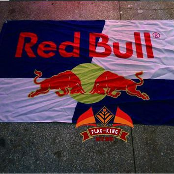 New York Red Bulls Flag 3ft x 5ft Polyester North American Soccer USL Pro Banner Size 90*150CM Custom Flag