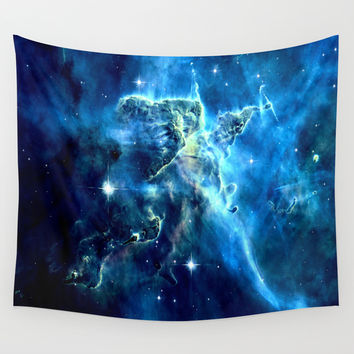 galaxy nebula Wall Tapestry by 2sweet4words Designs