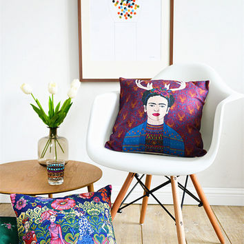 South American Pastoral Art Pillowcase Abstract Color Woman Frida Cushion Decorative Pillow Cushions Home Decor Throw Pillow