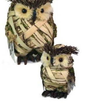 "8 Owl Figures - Smaller Is 7.5 "" H"