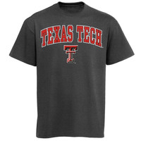Texas Tech Red Raiders Arch Over Logo T-Shirt - Charcoal