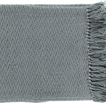 Surya Tressa Contemporary Woven Throw - Gray