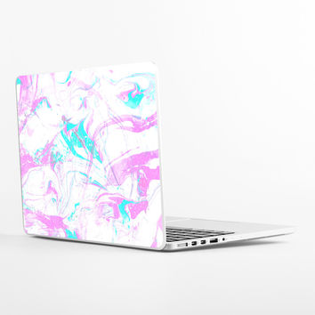 Marble in Purple Laptop Skin