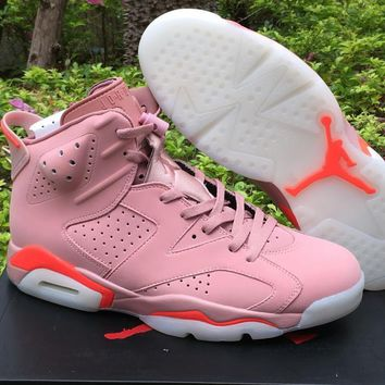 Air Jordan 6 Pink Infrared Basketball Shoes Size 40.5 47.5 | Best Deal Online