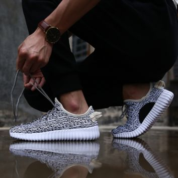 """Adidas"" Women Yeezy Boost Sneakers Running Sports Shoes Grey-White"